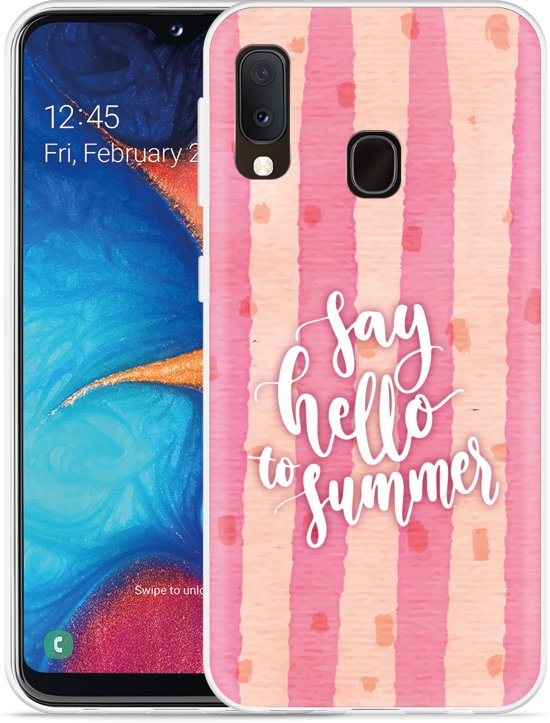 Galaxy A20e Hoesje Say Hello to Summer