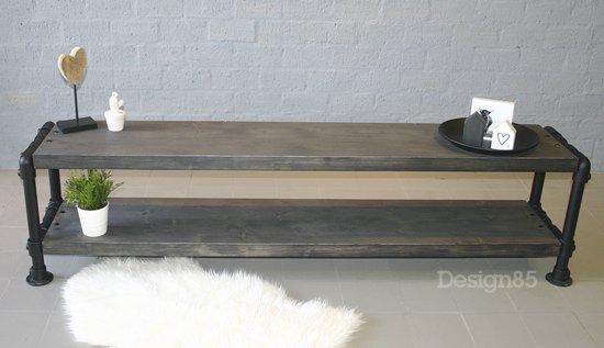 Tv Meubelen Aangeboden.Design85 Steigerbuis Tv Meubel Zwart