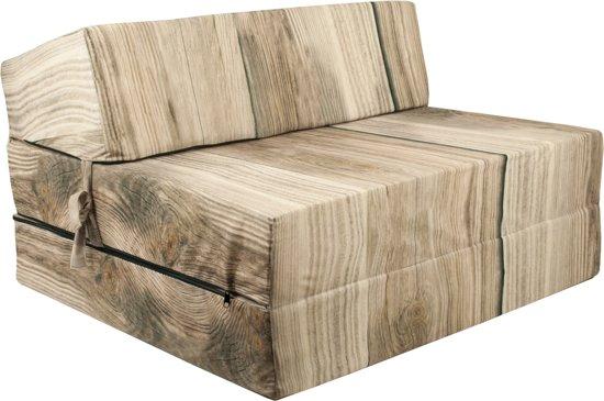 Design logeermatras - hout - camping matras - reismatras - opvouwbaar matras - 200 x 90 x 15 - sofa