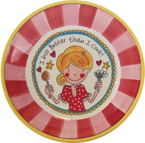 bol com   Blond Amsterdam Even Bijkletsen Diep Bord   23 5 cm   Roze  Rood