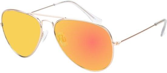 78581a2f018701 Polariserende piloten zonnebril geel spiegel grijze lenzen