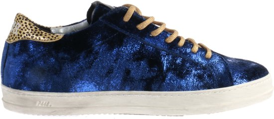 P448 John Roy Sneakers Blauw Fluweel