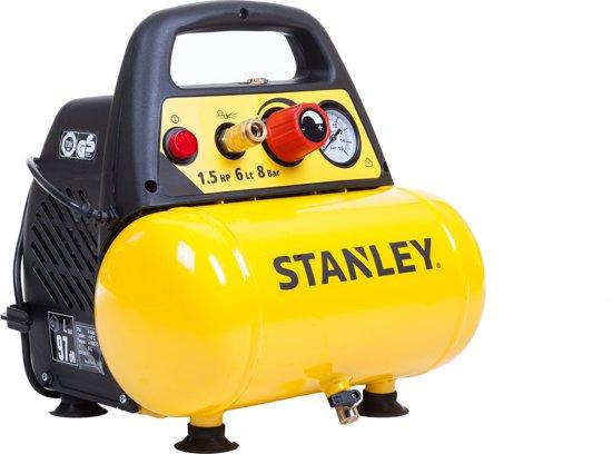 Stanley Compressor DN200/8/6 - 1.5pk - 30L - 180 l/min - 8 bar