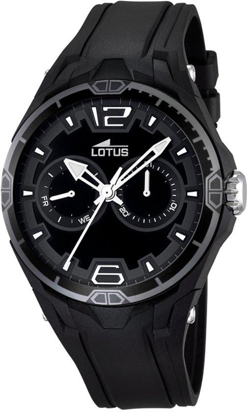 Lotus R  - Horloge L18184-6 - Rubber - Zwart