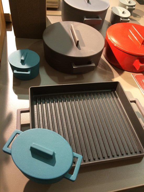Braadpan Blauw 13 cm x 10 cm incl deksel - Sambonet