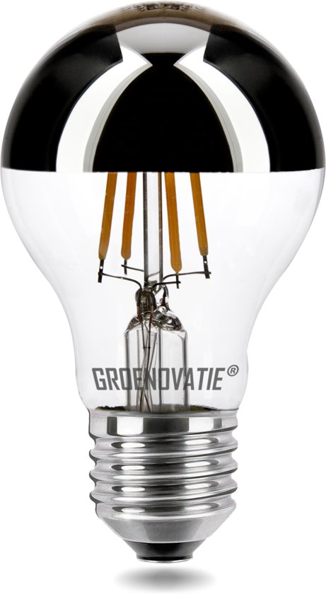 E27 LED Filament Kopspiegellamp 4W Warm Wit Dimbaar