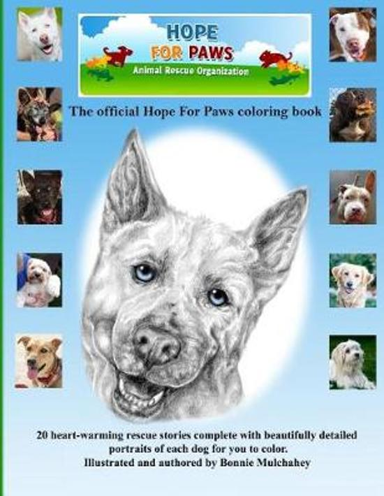 Hope For Paws Official Keepsake Coloring Book - Black and White Version