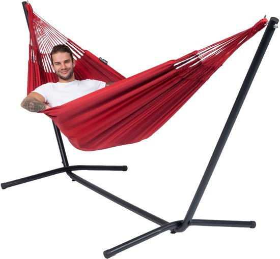 Hangmat met Standaard Eénpersoons 'Easy & Dream' Red