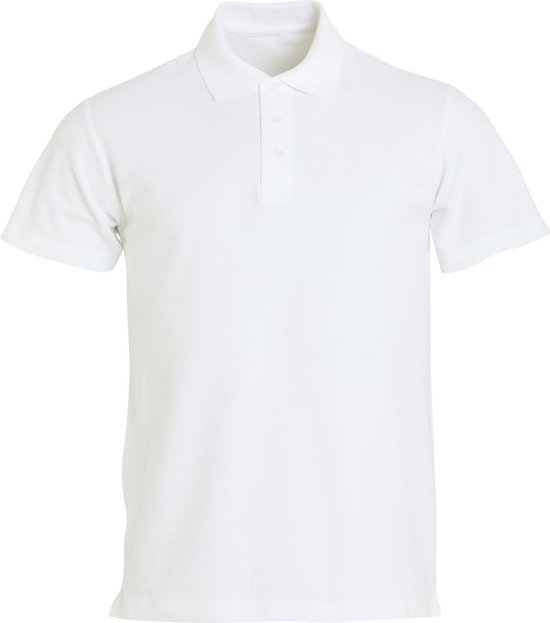 Clique Basic heren polo wit xs