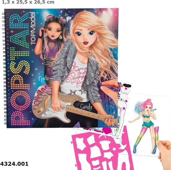 Topmodel popstar kleurboek depesche speelgoed - Dessin top model ...