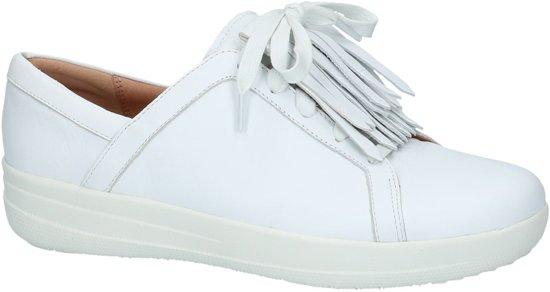 White Gekleed Leather Dames 42 J96 urban Fitflop Sneakers Lace Fringe F Ii sporty Up 194 Wit Laag Sneaker Maat fzxwfT