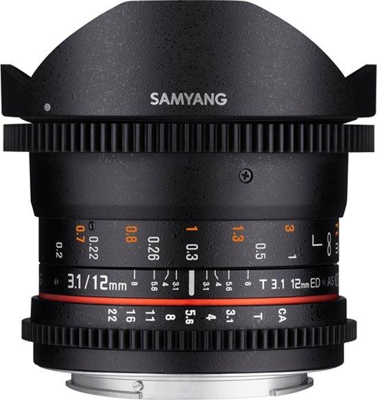 Samyang 12mm T3.1 Vdslr Ed As Ncs Fisheye - Prime lens - geschikt voor Olympus 4/3 in Castelre
