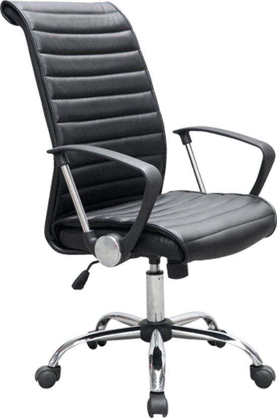 Verstelbare Bureaustoel Zwart.Bol Com Ergonomische Bureaustoel Zwart Pu Leder Verstelbaar