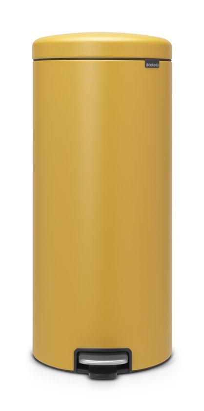 Brabantia NewIcon Pedaalemmer 30 L Mineral Mustard Yellow