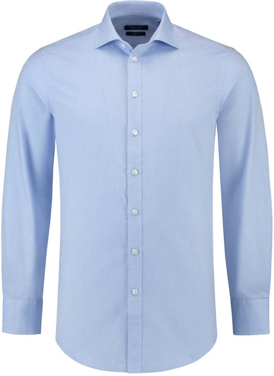 Tricorp Heren overhemd Oxford slim-fit - Corporate - 705007 - Blauw - maat 41/5