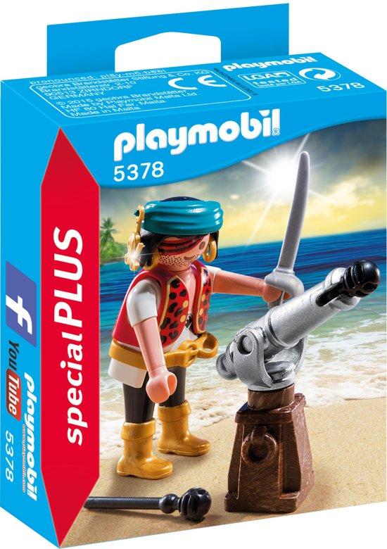 PLAYMOBIL Piraat met bronzen scheepskanon - 5378