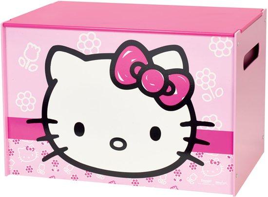 Hello Kitty Opbergkast.Bol Com Hello Kitty Speelgoedkist Roze