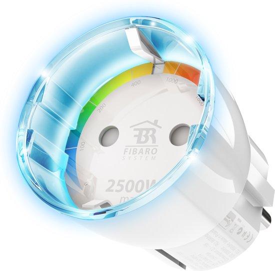 FIBARO Wall Plug Type F - Slimme Stekker met energiemeting - werkt met Toon en Z-Wave