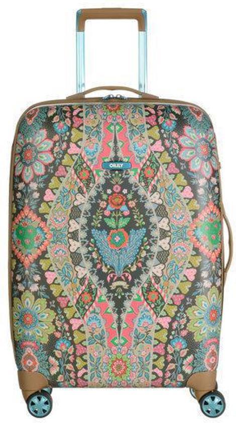 oilily travel koffer 68 cm charcoal. Black Bedroom Furniture Sets. Home Design Ideas