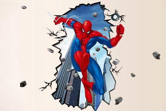 Muurstickers Kinderkamer Spiderman.Bol Com Extra Grote Kinderkamer Muursticker Spiderman Xxl