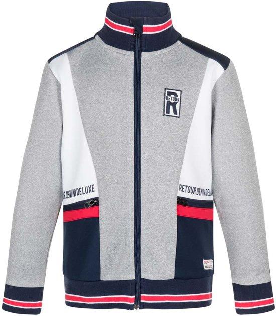 Retour Jeans Jongens Vest - Light grey melange - Maat 146/152