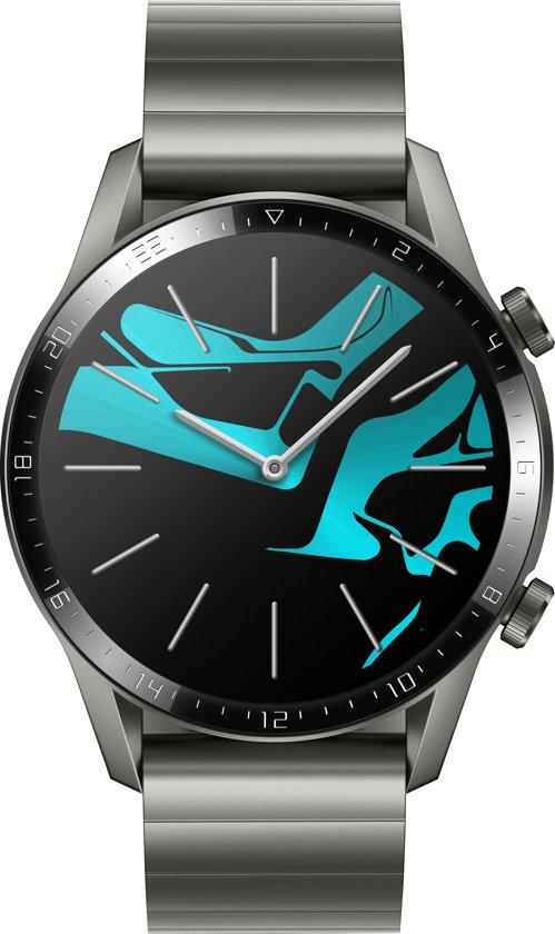 Huawei Watch GT 2 - Titanium - grijze metalen band
