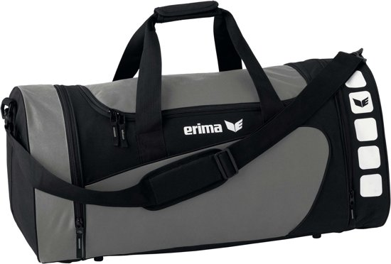 Erima Sporttas Club 5 Line Grijs/zwart 49,5 Liter