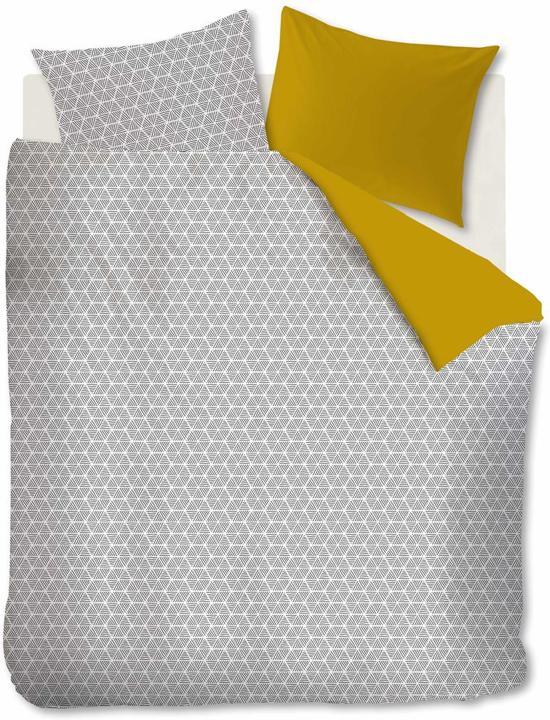Ambiante Todd - Dekbedovertrek - Lits-jumeaux - 240x200/220 cm + 2 kussenslopen 60x70 cm - Yellow