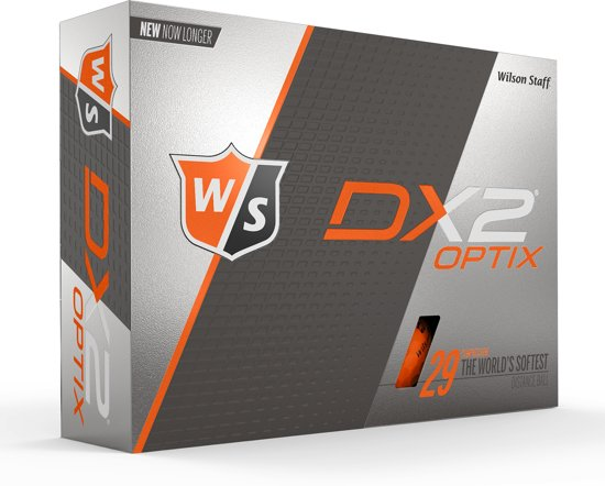 Wilson Staff DX2 Optix 12-pack Golfbal Orange