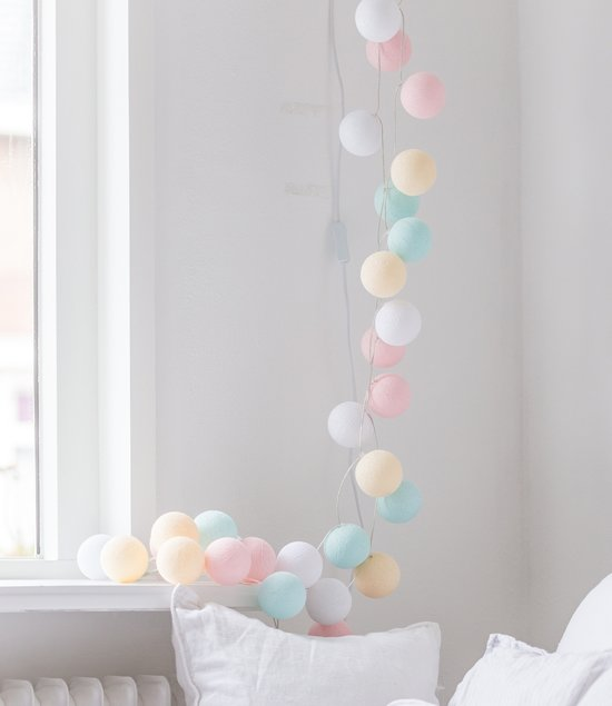 Cotton Ball Lights Lichtslinger Pastel – 20 Cotton Balls – Pastel
