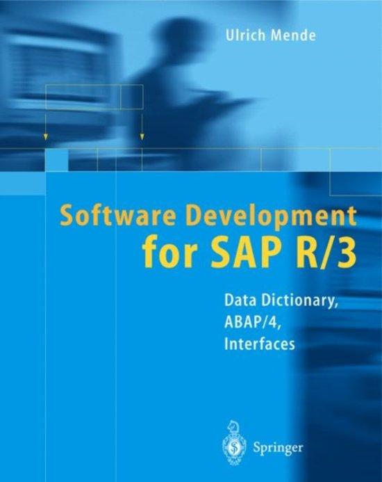 Software Development for SAP R/3 (R)