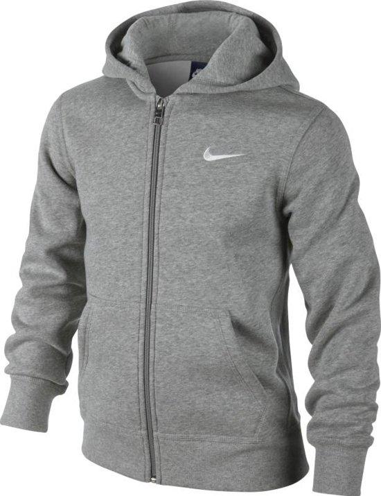 1adc0e186a3 bol.com | Nike NSW Hoodie Ya76 FZ Sportvest Kinderen - Grijs