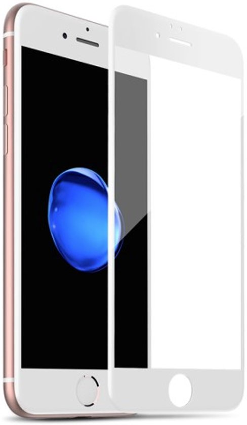 new product 4b9d4 179a1 Full Cover Tempered Glass Screen Protector iPhone 8 / 7 - Wit