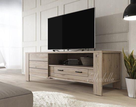 Bol tv meubel marine licht eiken cm