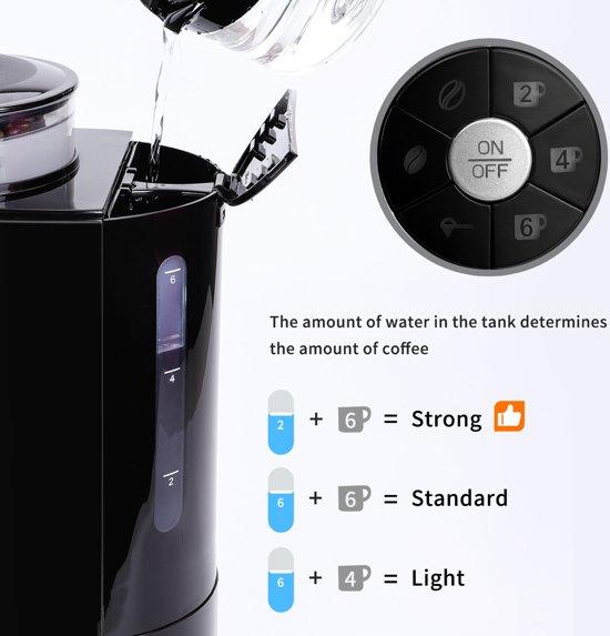 Aigostar Kaffa 30LHX - Koffiezetapparaat met koffiemolen - geschikt vo