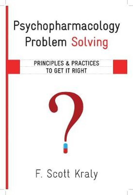 psychopharmacology problem solving f scott kraly