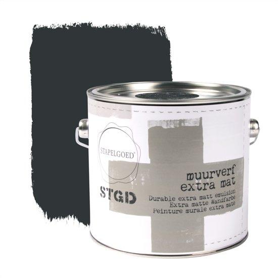 Stapelgoed - Muurverf extra mat - Navy black - Zwart - 2,5L