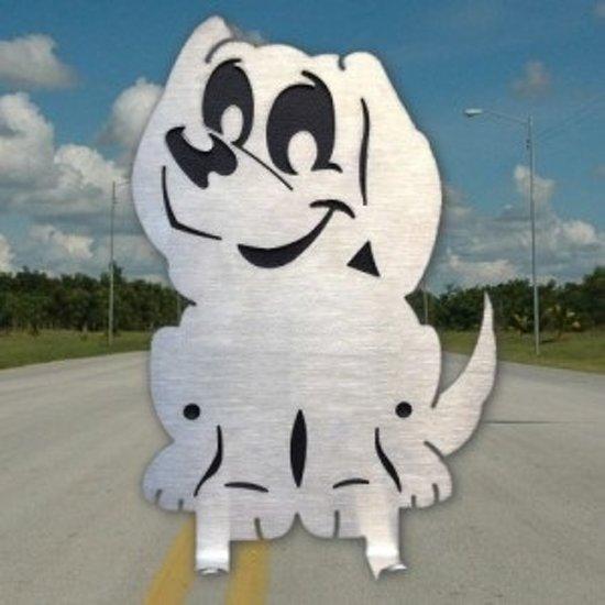 Designkapstokje Hond - RVS - Kapstokje - Kapstokje Hond - kapstok hond - RVS kapstok - Honden cadeau - accessoire hond - honden presentje
