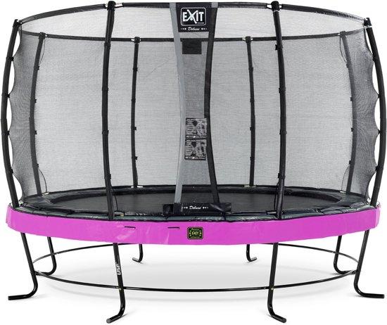 EXIT Elegant Premium trampoline ø366cm met veiligheidsnet Deluxe - paars