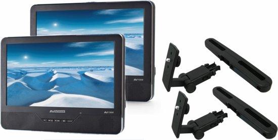 Autovision AV 1900IR Duo Deluxe - Portable DVD-speler met 2 spelers en 2 schermen - 9 inch - Zwart
