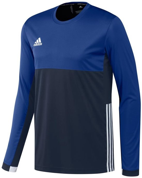 Xxl Shirts 'oncourt' Heren Adidas T16 Shirt Blauw Sleeve Long Donker zxfaS