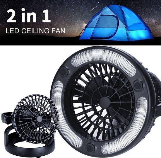bol.com   2-In-1 18 LED Kampeerlamp & Camping Ventilator - Hanglamp ...