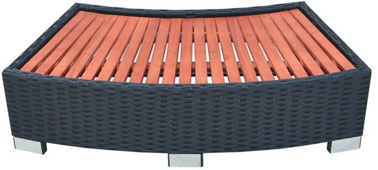 vidaXL Spa trapje zwart 92x45x25 cm poly rattan
