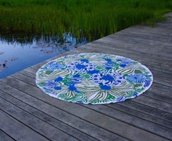 Bohemida Roundie - XL Boho Jungle Blue - Strandlaken - 100 % Duurzaam Katoen