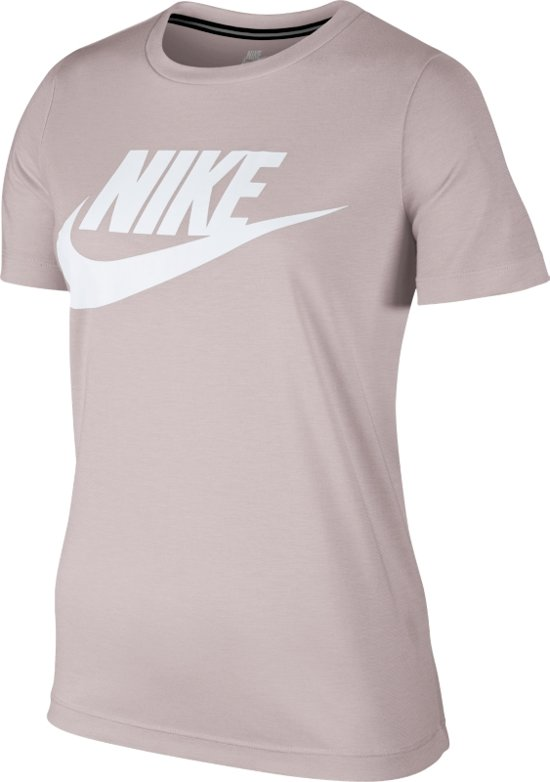 e9d3301b836 Nike Sportswear Essential Women's Logo Shirt Sportshirt Dames - Barely  Rose/Barely Rose/White