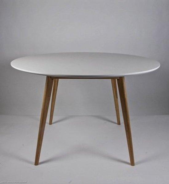 bol.com  Tafel Radius rond wit / hout