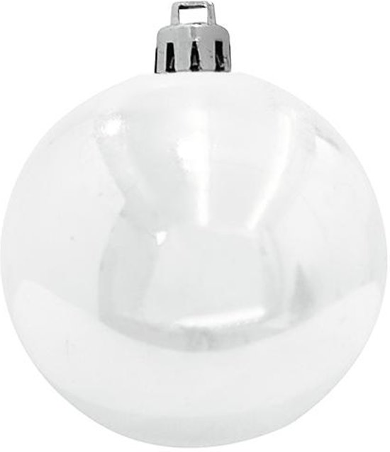 Europalms Kerstbal 10cm, white 4x