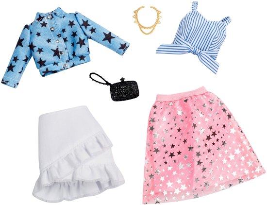 Barbie Kledingsetje Jeans Jack En Roze Rok - Set van 2 Outfits