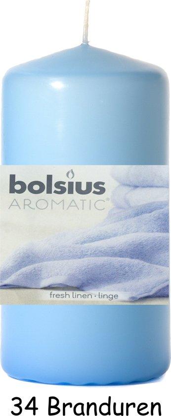 Bolsius Wild Fresh Linnen - Stompkaars Geurkaars - 12 x 6 cm