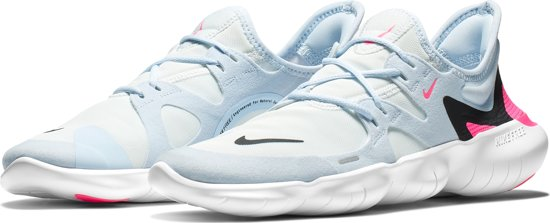 Nike Free Rn 5.0 Sportschoenen Dames - White/Blue/Pink - Maat 39